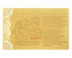 Praise to 21 Tara Printed on Card in Gold