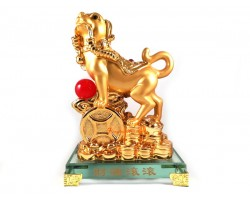 Prosperity Golden Dog with Coins