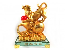 Prosperity Golden Dog with Wu Lou