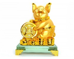 Prosperity Golden Pig with Gold Coins