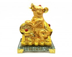 Prosperity Golden Rat with Ruyi