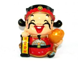 Cute Chinese Wealth God for Wealth Luck Piggy Bank