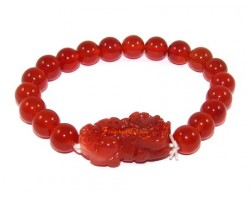 Pi Yao  Protection Crystal Bracelet - Red Agate