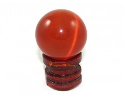 Cat's Eye Crystal Ball - Red