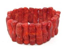 Red Coral Elastic Bracelet
