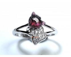 Red Garnet Fox Ring
