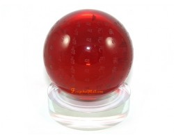 Red Mantra Ball with Stand