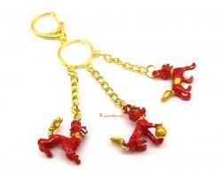 Red Three Divine Guardians Keychain
