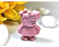 Rhodonite Peppa Pig Pendant