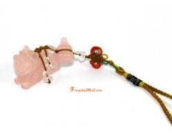 Rose Quartz Piyao with Wulou Hanging