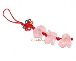 Rose Quartz Allies Mobile Hanging -  Rabbit, Sheep and Boar