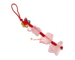 Rose Quartz Allies Mobile Hanging - Ox, Rooster and Snake