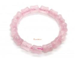 Rose Quartz Bamboo Bracelet