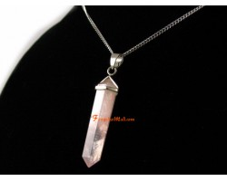 Rose Quartz Double Point Pendant (L)