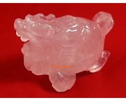 Rose Quartz Feng Shui Dragon Tortoise