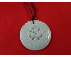 Round Jade Feng Shui Pi Chiu Pendant