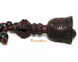 Sandalwood Tibetan Bell Keychain