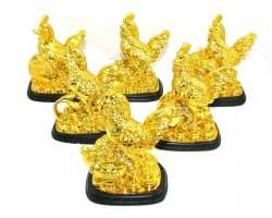 Six Auspicious Good Fortune Roosters