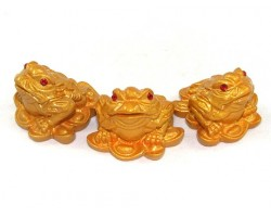 Mini Money Frog for Wealth (Set of 3)