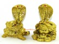 Golden Snakes on Money Frog and Tortoise with Child