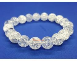 Snowy Clear Quartz Crystal Bracelet