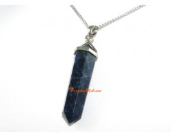 Sodalite Double Terminated Crystal Point Pendant (L)