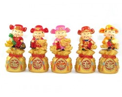 Springy Five Directional Chinese Wealth Gods