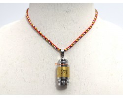 Stainless Steel Prayer Wheel Pendant with Mantra