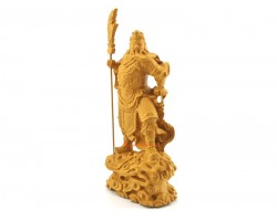 Standing Kwan Kung with Dragon Sword Statue (7 inches)