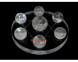 Crystal Ball on Hexagram Symbol - Clear Quartz