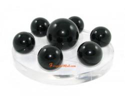 Crystal Balls on Hexagram Symbol - Obsidian