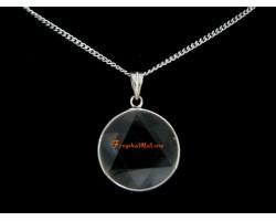 Star of David Crystal Pendant Necklace (Clear Quartz)