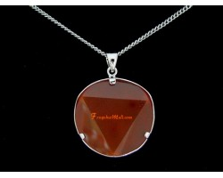 Star of David Crystal Pendant Necklace (Red Agate)