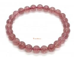 Strawberry Quartz Bracelet 7mm
