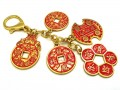 Success and Wealth 5 Amulet Coins Keychain