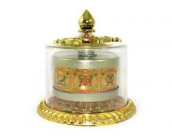 Table-top 8 Auspicious Objects Prayer Wheel (s)