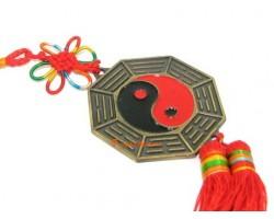 Yin Yang Tai Chi 12 Horoscope Bagua Mirror Tassel