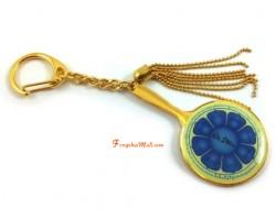 The Eight Petal Lotus Mirror of Manjushri Keychain