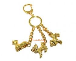 Three Celestial Guardians Key Ring