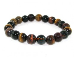 Three-Color Tiger's Eye Crystal Bracelet (8mm)