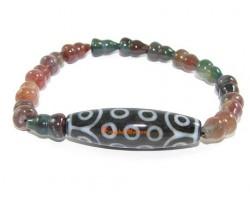 Tibetan Dzi Bead of Your Choice with Wu Lou Bloodstone Bracelet