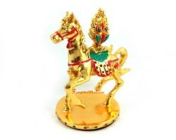 Tibetan Lung Ta Wind Horse with Cintamani Jewel