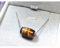 Tiger Eye Barrel Pendant