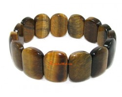 Rectangular Tiger's Eye Crystal Bracelet