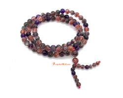 Top Grade Super Seven Gemstone 3-Round Bracelet (6.3mm)