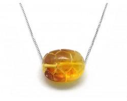 Tortoise Shell Amber Pendant