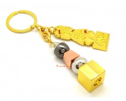 5 Element Trinity Pagoda Keychain With Om Ah Hum