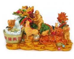 Good Fortune Dragon with Horoscope Friends