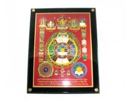 Universal Tortoise with Manjushri and Kalachakra Plaque