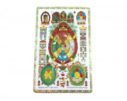 Universal Tortoise with Manjushri and Kalachakra Metal Card